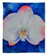 Pink Blush Orchid Fleece Blanket