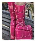 Pink Boots Fleece Blanket