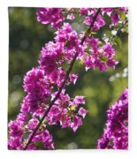 Pink Bougainvillea Sunshine Fleece Blanket