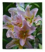 Pink Bridal Bouquet Fleece Blanket