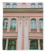 Pink Building Fleece Blanket