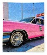 Pink Cadillac Fleece Blanket