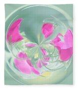 Pink California Poppy Orb Fleece Blanket