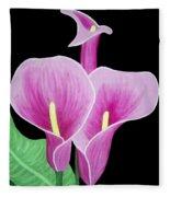Pink Calla Lilies 1 Fleece Blanket