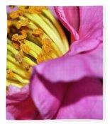 Pink Camellia And Stamen Fleece Blanket