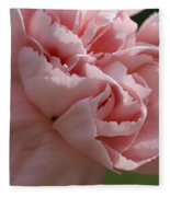 Pink Carnation Fleece Blanket