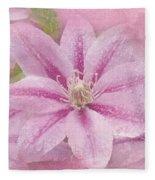 Pink Clematis Profusion Fleece Blanket