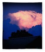 Pink Cloud Over Lexington Fleece Blanket