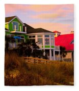 Pink Clouds At Isle Of Palms Fleece Blanket