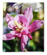 Pink Columbine Fleece Blanket