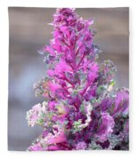 Pink Coned Cabbage Fleece Blanket