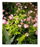 Pink Cosmos Swirl Fleece Blanket
