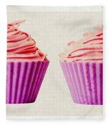 Pink Cupcakes Fleece Blanket