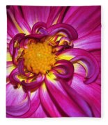 Pink Dahlia Fleece Blanket