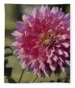 Pink Dahlia Fleece Blanket