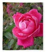 Pink Double Rose Fleece Blanket