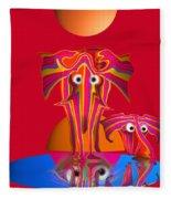 Pink Elephants Fleece Blanket