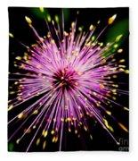 Pink Fireworks  Fleece Blanket