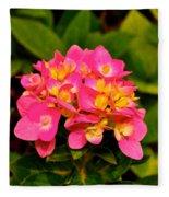 Pink Flower Austin Fleece Blanket