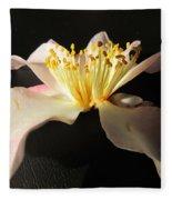 Pink Flower Azalea . Fleece Blanket