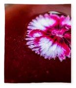 Pink Flower In Red Wine Cocktail Fleece Blanket