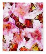 Pink Flowers 2 Fleece Blanket