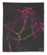 Pink Flowers Fleece Blanket