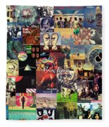 Pink Floyd Collage II Fleece Blanket