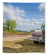 Pink Ford Edsel  Fleece Blanket