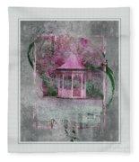 Pink Gazebo Fleece Blanket