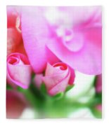 Pink Geranium Fleece Blanket