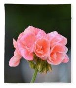 Pink Geranium Fleece Blanket
