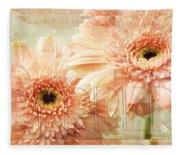 Pink Gerber Daisies 3 Fleece Blanket