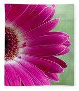 Pink Gerbera Fleece Blanket