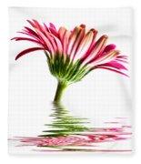 Pink Gerbera Flood 2 Fleece Blanket