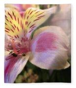 Pink Glow Lily  Fleece Blanket