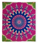 Pink Green Blue Abstract Fleece Blanket
