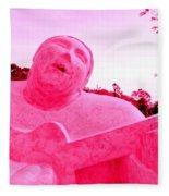 Pink Guitarist Fleece Blanket