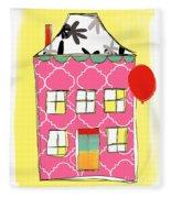 Pink House Fleece Blanket