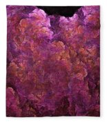 Pink Hydrangea Fractal Blossoms Fleece Blanket