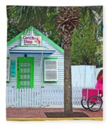 Pink Lady And The Conch Shop  Fleece Blanket