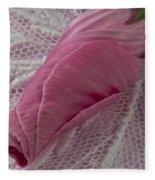 Pink Lavatera Bud Macro Fleece Blanket