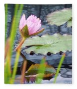 Pink Lily And Pads Fleece Blanket