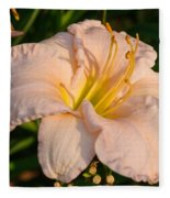 Pink Lily At Sunset 1 Fleece Blanket