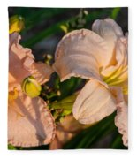 Pink Lily At Sunset 2 Fleece Blanket