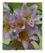 Pink Lily Fantasia Fleece Blanket