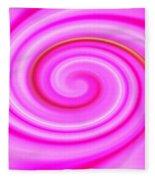 Pink Lollipop Swirl Fleece Blanket