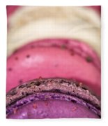 Pink Macarons Fleece Blanket