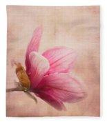 Pink Magnolia I Fleece Blanket