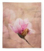 Pink Magnolia II Fleece Blanket